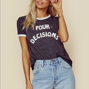 WILDFOX Pour Decisions The Johnny Ringer Tee - S